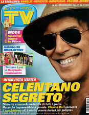 TV SORRISI E CANZONI=N°49 01/12/2007=CELENTANO SEGRETO=BONOLIS=HUNZIKER=PAUSINI