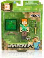 Minecraft ALEX with Sword, Bow and Box Accessory Series 3 Action Figure Jazwares