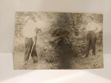 Pre WW1 Postcard circa early 1900's Twins taking photo card RPPC VELOX