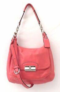 Coach Kristin F22306 Pink Leather Hobo Bag Purse