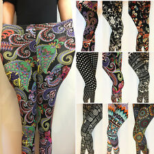 Plus Girls BOHO Floral Printed Women Pants Ankle/Cropped Jeggings Leggings Lot