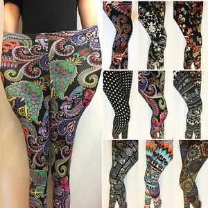 Fabulous 26 Patterns Floral Printed Plus Ankle/Cropped Leggings Women Pants 2019