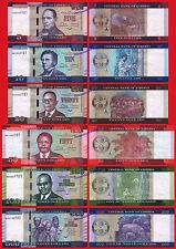 LIBERIA FULL NEW SET 5 10 20 50 100 & 500 Dollars dolares 2016 2017 Serie AA UNC