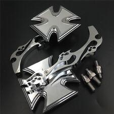 Yamaha YZFR1 R1 R6 FZR600 YZF600R Motor Alloy Maltese Cross Custom Mirror chrome