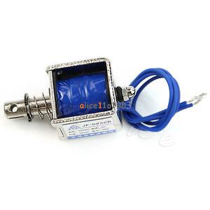 JF-0826B 12V/2A Reset 10mm 20N Push Pull Type Open Frame Solenoid Electromagnet