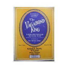 FRIML Rudolf The Vagabond King Chant Piano 1926 partition sheet music score