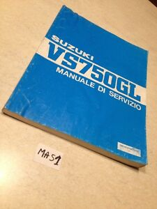 Suzuki VS750GL VS750 1985 Manual Taller Revisión Técnica Mantenimiento Intruder