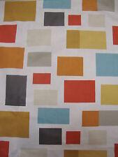 167cm Scion Blocks Cotton Curtain Fabric Remnant Chalk Powder Blue Spice Linden