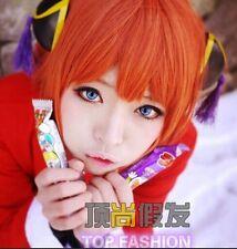 Gintama  Kagura Cosplay Short Orange Hair Cosplay Costume Party Wig