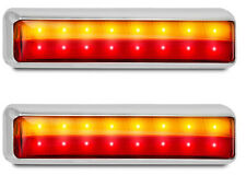 TRAILER STOP/TAIL/ INDICATOR  LAMP  X 2 CHROME 12 VOLT 201 SERIES LED AUTOLAMPS
