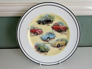 Kirsty Jane China Plate Picturing VW Beetles