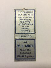 Vintage Matchbook SUNOCO Sun Oil Company Pittsburgh Pennsylvania