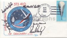 Nasa Mission Sts 41-D - Commemorative Postal Cover Signed by All 6 Crew Members