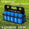 10x Water Bottles + Carrier | 9 COLORS - BPA Free Plastic - 750ML SPORTS BOTTLE
