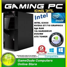 INTEL DUAL CORE 2.9Ghz GAMING PC 8GB ram 1tb HDD GT-710 Graphics DVD/RW FF
