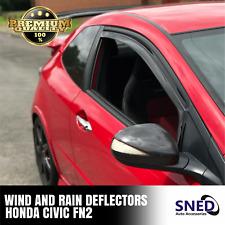 Honda Civic FN2 inc Type R 3DR Wind & Rain Deflectors Front Pair Dark Smoked NEW