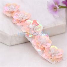 5Pcs Patch Flower Sequins Beads Applique 3D DIY Accessory for Bag Shoe Cloth
