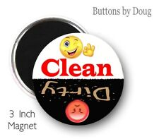 Emoji Dish Washer Clean Dirty Magnet to Let You Know When They Are Clean