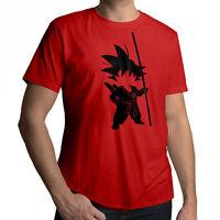 Anime Young Kid Teenage Goku Tail Short Sleeve Top Men T-Shirt Size XL