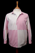 """Crew Clothing long sleeve pink white cotton drill sailing deck shirt S 36"""" 92cm"""