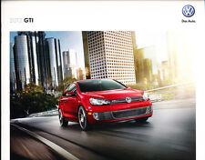 2012 VW Volkswagen GTI 20-page Original Car Sales Brochure Catalog - SR Autobahn