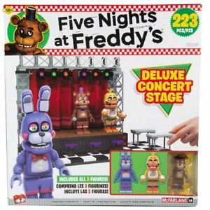 FNAF Five Nights at Freddy's Deluxe Concert Stage Construction Set -New in stock