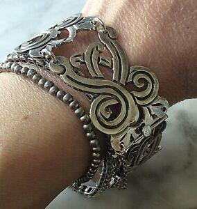 Bracelet Silver Sterling 925 Mexico Taxco  Heavy Chunky (105274V)