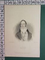 1834 Datierter Antik Aufdruck ~ M. G. Lewis