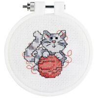 "Janlynn/kid Stitch Mini Counted Cross Stitch Kit 3"" Round-kitty (14 Count) -"