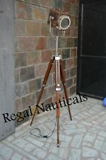VINTAGE THEATER SPOT LIGHT FLOOR LAMP SEARCHLIGHT WITH TRIPOD STAND NewYear.Gift