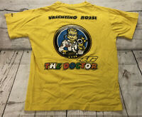 Valentino Rossi Mens T Shirt Sz Medium Yellow The Doctor Vale 46 Moto GP Racing