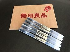 MUJI MoMA Japan 0.38mm Non-Toxic Gel Ink BLACK 5 Pens FASTEST FREE SHIPPING