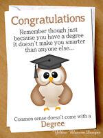 Funny Greetings Card Graduation Congratulations University Degree Comical Humour