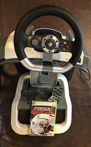 Microsoft XBox 360 Force Feedback Wireless Racing Wheel & Pedals Forza GTA Games