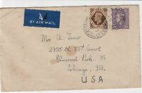 british airmail 1946 stamps cover ref 19436