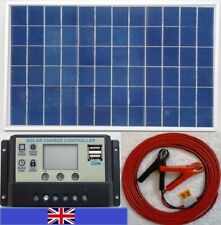 10w Solar Panel c/w LCD 2 x USB 5V Charger & 7m Cable + fuse for 12v Battery UK