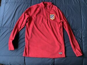 2016/ 2017 Nike Atletico Madrid Half Zip Training l/s Top - Size Large