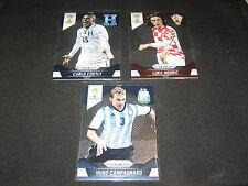 LOT (3) 2014 PRIZM MODRIC, COSTLY & CAMPAGNARO AUTHENTIC PANINI SOCCER CARDS