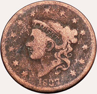 1837 LARGE CENT Liberty Head Wreath United States of America USA Coin i43517