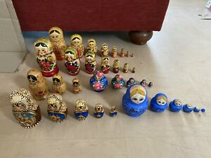 Joblot Of 6 Russian Nesting Dolls