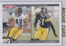 TROY POLAMALU 1st Edition ROOKIE CARD Pittsburgh Steeler Football TOPPS TOTAL RC