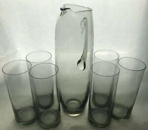 """Jug and Glasses by Per Lutken for Holmegaard  .""""Roskilde"""""""