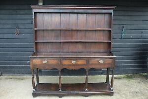A Welsh Oak Kitchen Dresser with Pot Board Base/ Country/ Farmhouse Dresser