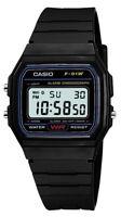 100% Reloj digital Casio original f91w retro unisex Negro