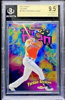 Yordan Alvarez 2020 Topps Finest '98 The Man Rookie Insert Astros BGS 9.5 POP 2
