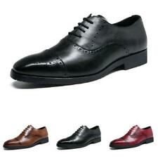 38-47 Mens Dress Formal Wedding Suits Shoes Business Oxfords Brogue Carved New L