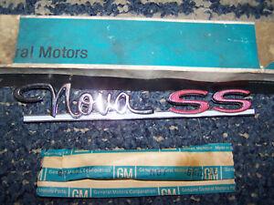 1963-1964 Chevy II Nova SS Rear Quarter Panel Name Badge Emblem GM NOS 3832828