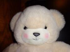 "Cutest Face BRAD Teddy Bear Plush Cream 24 K Polar Puff 1989 Stuffed Animal 17 """
