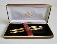 Vintage NOS Centennial Pen Set Gold Tone Pens Precision Writing Instruments NIB