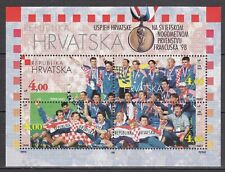 CROATIA 1998 **MNH SC# #  375 S/S - Croatian Football Team Bronze Medalists at